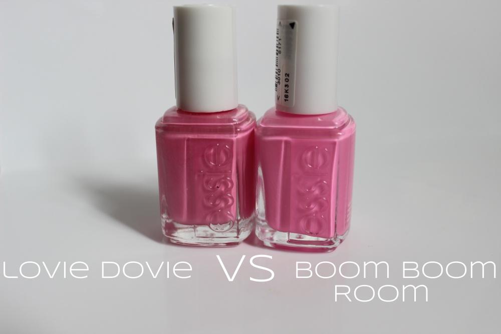 Essie's 'Lovie Dovie' VS 'Boom Boom Room' (1/3)