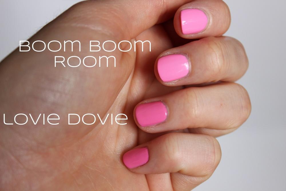 Essie's 'Lovie Dovie' VS 'Boom Boom Room' (2/3)